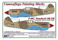 AML Czech Republic  1/48 Curtiss P-40C, Tomahawk Mk.IIB Camouflage mas AMLM4929