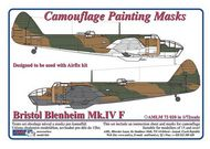 AML Czech Republic  1/72 Blenheim Mk.IV camo paint mask AMLM7320