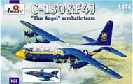 A Model Poland  1/144 C130 Hercules & F4J Blue Angel Aerobatic Team Aircraft (2 Kits) AMZ1425