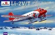 A Model Poland  1/72 Lisunov Li2V/T Soviet Polar Aircraft w/Skis (D)<!-- _Disc_ --> AMZ72234