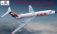 A Model Poland  1/72 Tu134A NATO Code Crusty-A Soviet CSA Passenger Airliner (D)<!-- _Disc_ --> AMZ72278