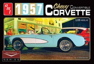 AMT/ERTL  1/25 1957 Chevy Corvette Convertible (White) Cindy Lewis Car Culture Diorama AMT1015
