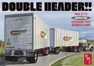 AMT/ERTL  1/25 Double Header Tandem Van Trailers AMT1132