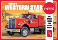1/25 Coca-Cola White Western Star Semi Tractor Cab #AMT1160