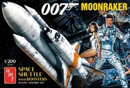 AMT/ERTL  1/200 Moonraker Space Shuttle w/Boosters from James Bond Movie AMT1208