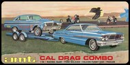 AMT/ERTL  1/25 Cal Drag Combo: 1964 Ford Galaxie, Falcon Funny Car & Trailer - Pre-Order Item AMT1223