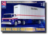 AMT/ERTL  1/25 '70 US Mail Ford C900 Truck Cab w/ 27' Trailer AMT31819