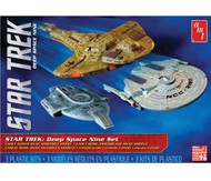 AMT/ERTL  1/2500 Star Trek Deep Space Nine: USS Saratoga, USS Defiant & Cardassian Galor Class Cruiser (Snaps) AMT764