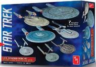 AMT/ERTL  1/2500 Star Trek USS Enterprise Set: NX01, NCC1701, NCC1701 Refit, NCC1701B/C/D/E (7 Snap Kits) AMT954