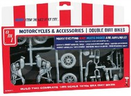 AMT/ERTL  1/25 1970s Double Dirt Bike Motorcycle Pack (2 Kits) AMTPP14