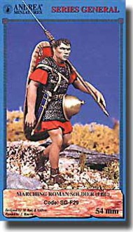 Andrea Miniatures  54mm Collection - Marching Roman Soldier AEASG-F29