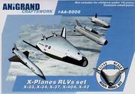 Anigrand Craftswork  1/144 X-33, X-34, X-37, X-40A, X-42 X-planes RLV compilation set ANIG5008