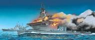 Aoshima  1/700 USS Wasp Aircraft Carrier & IJN I19 Submarine AOS10303
