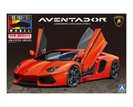 Aoshima  1/24 Lamborghini Aventador LP700-4 Sports Car (Molded in Orange Pearl) AOS11386