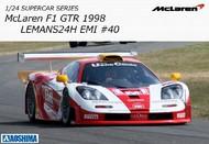 Aoshima  1/24 1998 McLaren F1 (Long Tail) GTR  LeMans #40 24-Hr Race Car AOS14196