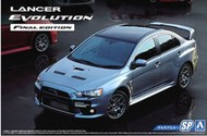 Aoshima  1/24 2015 Mitsubishi Lancer Evolution Final Edition 4-Door Car w/Spoiler AOS51641