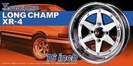 """Aoshima  1/24 Suzuka Brain Longchamp XR4 16"""" Tire & Wheel Set (4) AOS52495"""