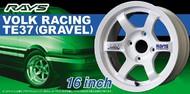 "Aoshima  1/24 Volk Racing TE37 Gravel 16"" Tire & Wheel Set (4) AOS52501"