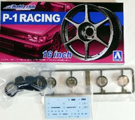 "Aoshima  1/24 Buddy Club P1 Racing 16"" Tire & Wheel Set (4) AOS52518"