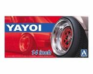 "Aoshima  1/24 Yayoi 14"" Tire & Wheel Set (4) AOS52563"
