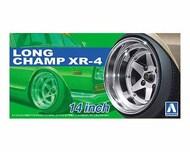"Aoshima  1/24 Long Champ XR4 14"" Tire & Wheel Set (4) AOS52570"