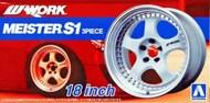 Aoshima  1/24 Work Maister S1 3 Peace 18 Tire & Wheel Set (4) AOS52990