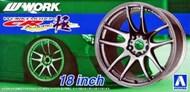 Aoshima  1/24 Work Emotion CR Kiwami 18 Tire & Wheel Set (4) AOS53003