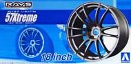 Aoshima  1/24 Gram Lights 57 Extreme 18 Tire & Wheel Set (4) AOS53010