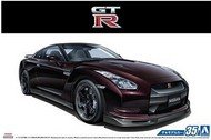 Aoshima  1/24 2009 Nissan GT-R Spec-V 2-Door Car AOS53171