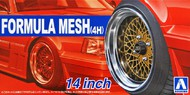 Aoshima  1/35 1/24 Formula Mesh (4H) 14� Tire & Wheel Set (4) AOS53256