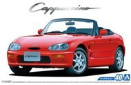 Aoshima  1/24 1991 Suzuki Cappucino 2-Door Sports Car Convertible, Top Down AOS53416