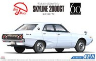 Aoshima  1/24 1972 Nissan Skyline 2000GT GC110 4-Door Car AOS53485