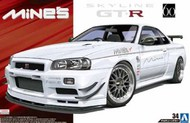 Aoshima  1/24 2002 Nissan BNR34 Skyline GT-R 2-Door Car - Pre-Order Item AOS53652
