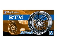 "Aoshima  1/24 Trafficstar RTM 20"" Tire & Wheel Set (4) AOS53713"