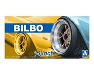 """Aoshima  1/24 Bilbo 14"""" Tire & Wheel Set (4) AOS53751"""