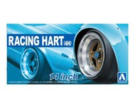 "Aoshima  1/24 Racing Hart 4H 14"" Tire & Wheel Set (4) AOS53775"