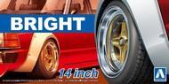 """Aoshima  1/24 Bright 14""""� Tire & Wheel Set (4) AOS54703"""