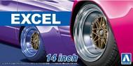 """Aoshima  1/24 Excel 14""""� Tire & Wheel Set (4) AOS54710"""