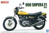 Aoshima  1/12 Kawasaki 900 Super4 Z1 1973 Model Motorcycle w/Custom Parts AOS55311