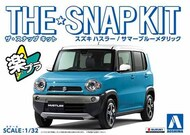 Aoshima  1/32 Suzuki Hustler Car (Snap Molded in Blue Metallic) AOS58336