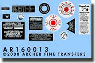 Archer Fine Transfers  1/16 M16 Halftrack Instruments & Placards for TSM AFT16013