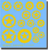 Archer Fine Transfers  1/35 M2/M3 Halftrack Stars in Yellow AFT35225Y
