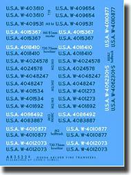 Archer Fine Transfers  1/35 M2/M3 Halftrack Registration Codes AFT35226