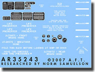 Archer Fine Transfers  1/35 DUKW Instruments, Placecards and Stencils AFT35243