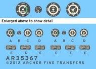 Archer Fine Transfers  1/24 Opel Blitz Instruments & Placards for ITA (D)<!-- _Disc_ --> AFT35367