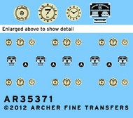 Archer Fine Transfers  1/35 MB 170V Instruments & Placards for MTB (D)<!-- _Disc_ --> AFT35371