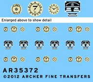 Archer Fine Transfers  1/35 MB 170V Instruments & Placards for MNA (D)<!-- _Disc_ --> AFT35372