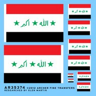 Archer Fine Transfers  1/35 Iraq Flags 1991-2004 (5 in 4 diff sizes) (D)<!-- _Disc_ --> AFT35374