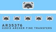 Archer Fine Transfers  1/35 Citroen Instruments for TAM (D)<!-- _Disc_ --> AFT35376