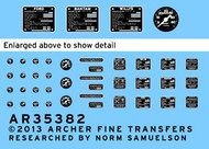 Archer Fine Transfers  1/35 Jeep Instruments & Placards for BOM AFT35382